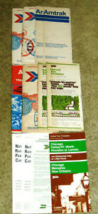 Vintage-Collection-1970-s-of-12-Amtrak-Timetables
