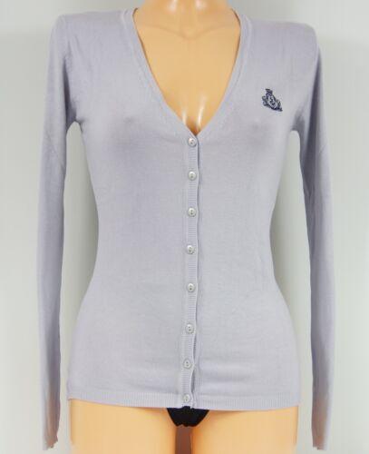 beige neu Damen Pullover Cardigan  Größe M  Farbe:blau-grau