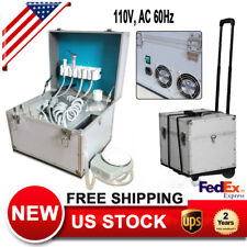 4 Holes Dental Unit System Delivery Rolling Boxweak Suction Air Compressor 360w