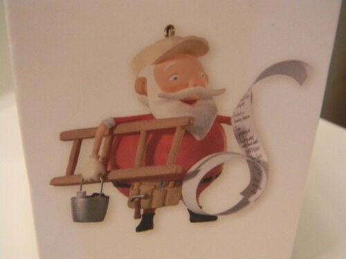 Hallmark Keepsake HONEYDO SANTA Christmas Ornament Handyman with list 2008 NIB