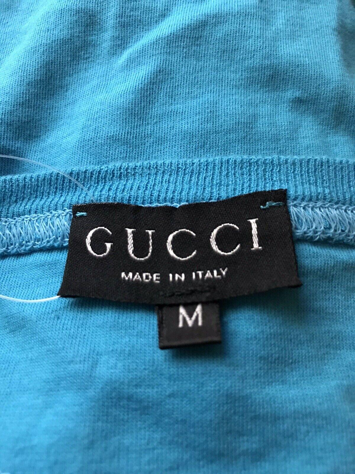 Rare Vtg Gucci 1996 Blue GG Embroidered Top M - image 8