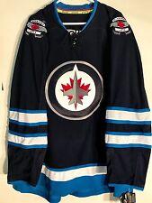Reebok Authentic NHL Jersey Winnipeg Jets Team Navy sz 56