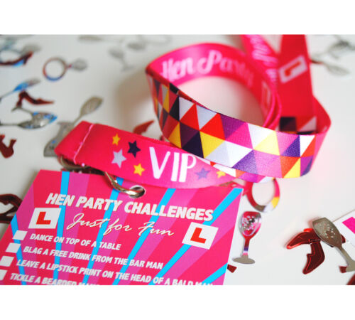 Hen Do Party Dares Challenges accessories Hen Party Festival VIP Pass Lanyards
