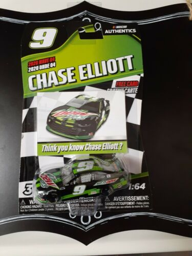 MOUNTAIN DEW ZERO CAR . 2020 WAVE 04 CHASE ELLIOTT. NASCAR AUTHENTICS.