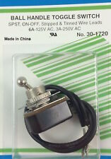 Ball Handle Toggle Switch Spst On Off 6a 125vac