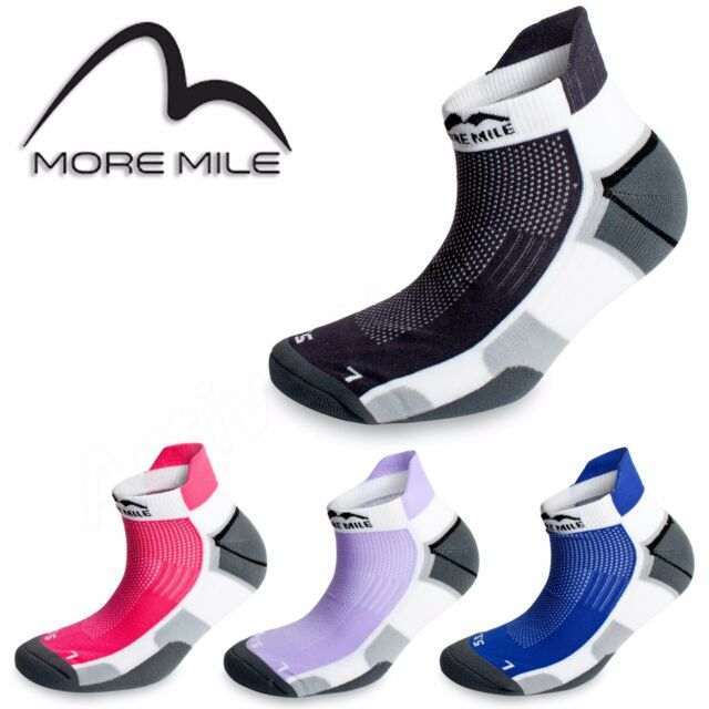 3 MORE MILE MENS WOMENS LADIES MIAMI ANKLE RUNNING SPORTS GYM CUSHIONED SOCKS