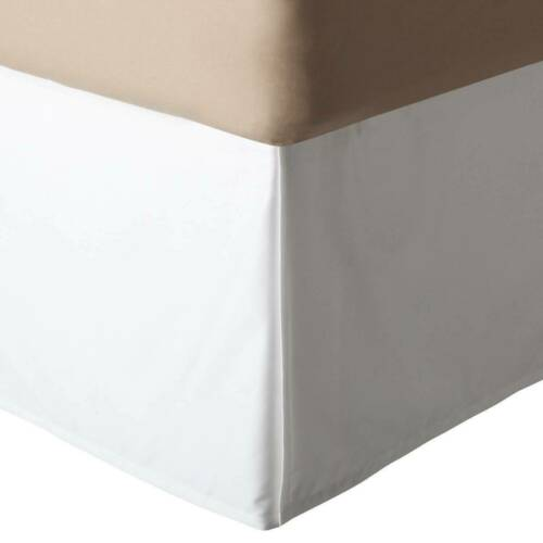 Daybed Pleated Tailored Bed Skirt Solid White 600 TC Cotton Twin Twin XL Full