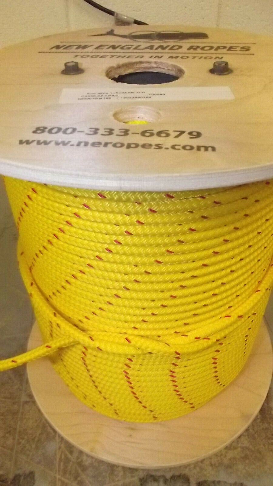 5 16  (8mm) x 540' Double Braid Dyneema Rope Water Rescue Rope, NFPA Throwline