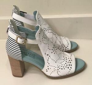 L-039-Artiste-by-Spring-Step-Women-039-s-Lashon-Heeled-Sandal-White-Multi-Leather-38