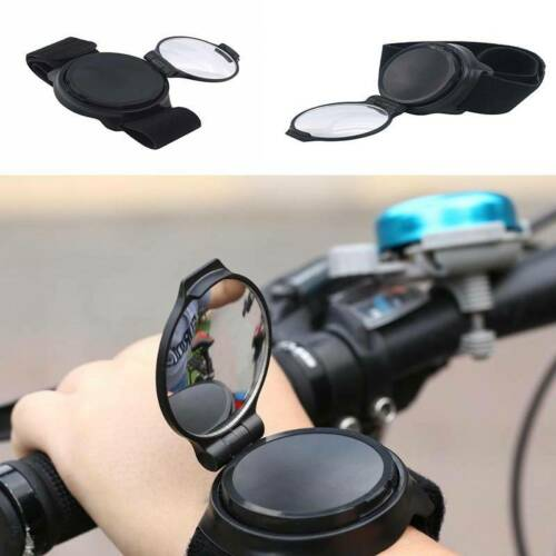 Bike Rearview Mirror Bicycle Back Mirror Cycling Arm Wrist Strap Rear View JD