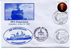 1987 Polarstern Arktis Iv Bremerhaven Posted At Sea Polar Cover