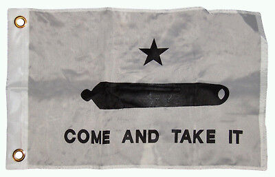 """12x18 12/""""x18/"""" Wholesale Lot of 3 Gonzales Come and Take It Stick Flag wood Staff"""