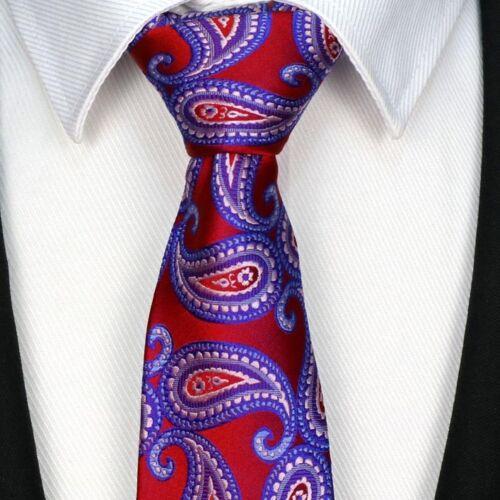 Mens Classic Silk Tie Necktie Striped Paisley JACQUARD Pattern Neck Ties