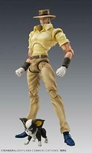 JOJO Super Action Statue Joseph Joestar & Iggy 150mm 35mm action Figure JAPAN