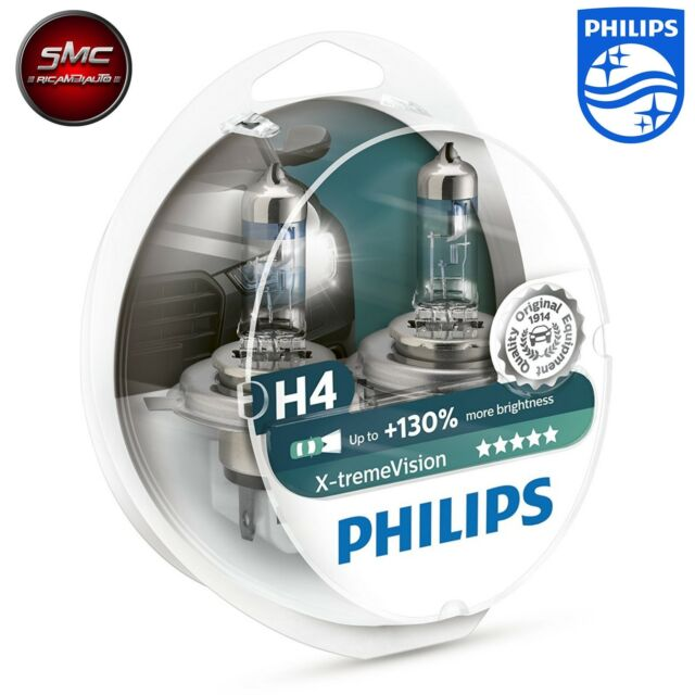 Philips 2x Halogenlampe H4 X-treme Vision Duo Box 12V 55-60W +130% auto lampen