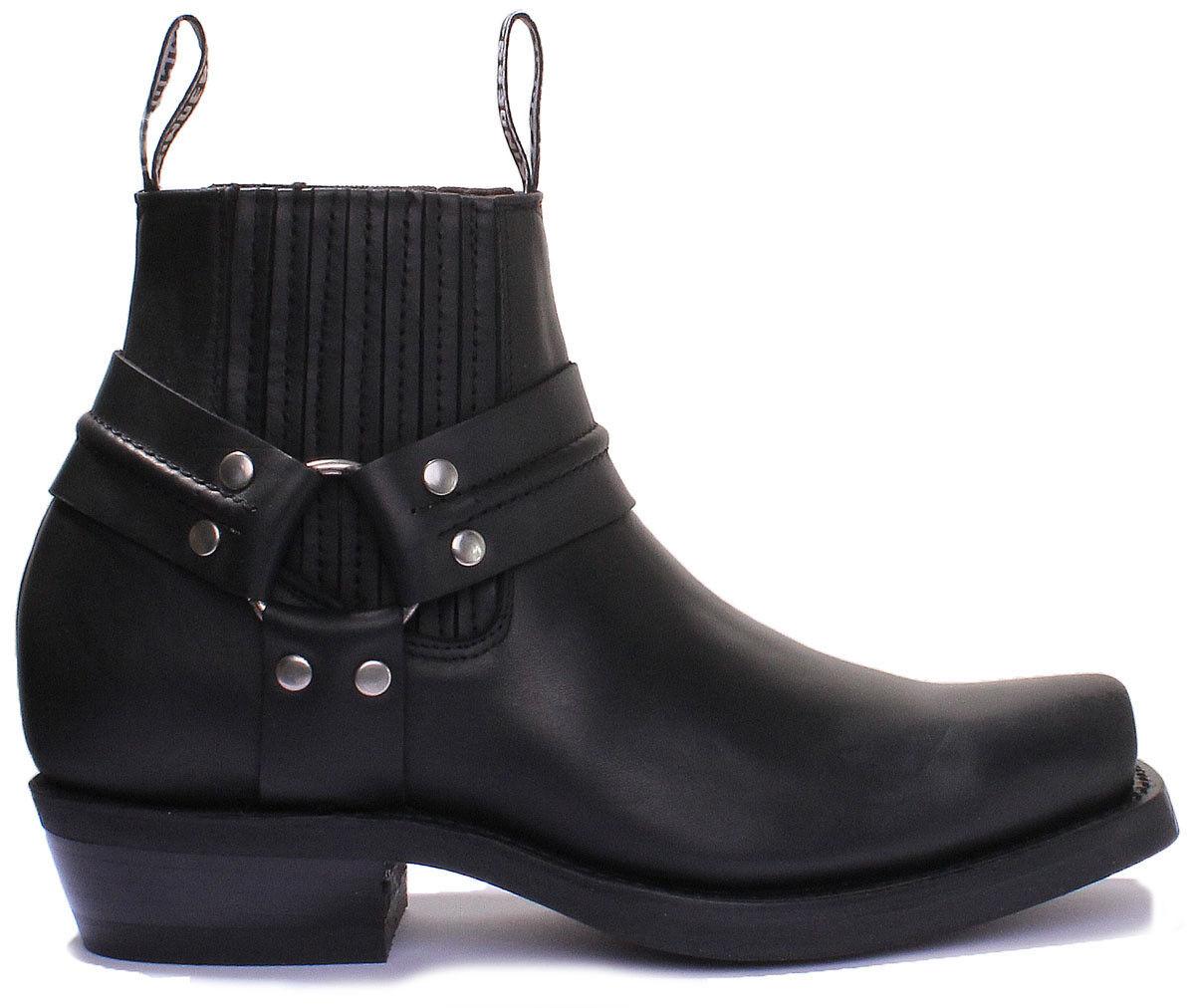 Grinders Renegade Niedrig Unisex Leder Leder Unisex Matt Cowboy Stiefel 4e05f2