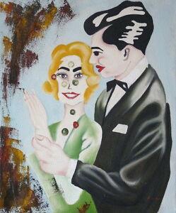 Gemaelde-Paar-abstrakt-Liebe-handgemalt-Leinwand-Acryl-Malerei-modern-Frau-Mann