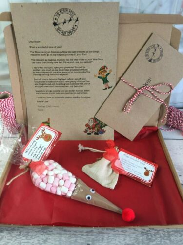 Santa Letter Reindeer Food /& Hot Chocolate Reindeer Kids Christmas Eve Box Kit