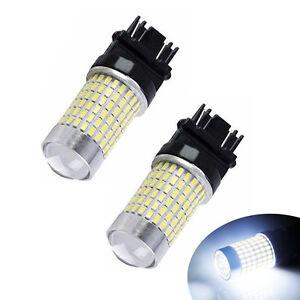 2PCS-White-1200-Lumen-144-SMD-3157-3156-T25-Back-Up-Reverse-Tail-LED-Light-Bulbs