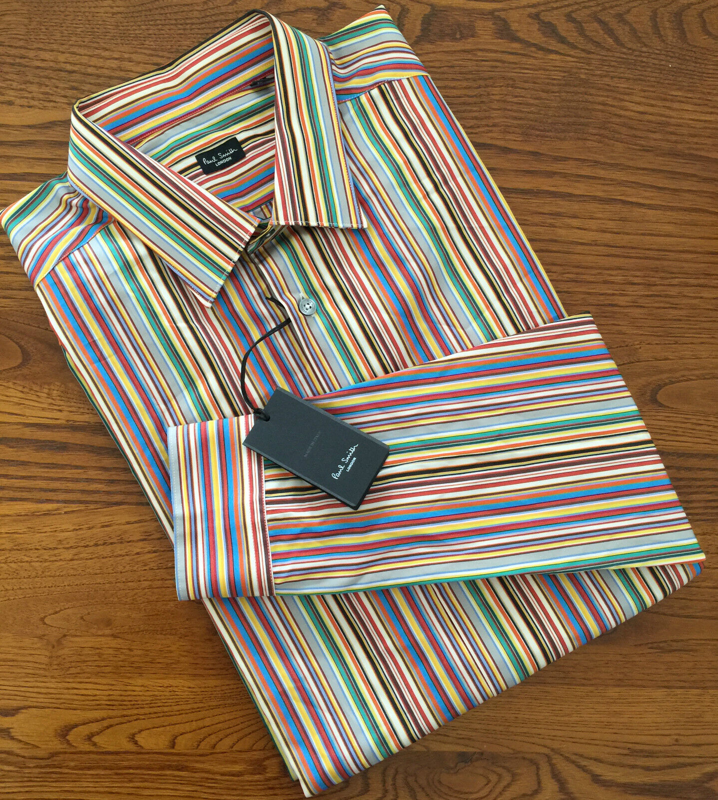 Paul Smith firma a più righe Slim Fit Camicia 17  MADE IN ITALY