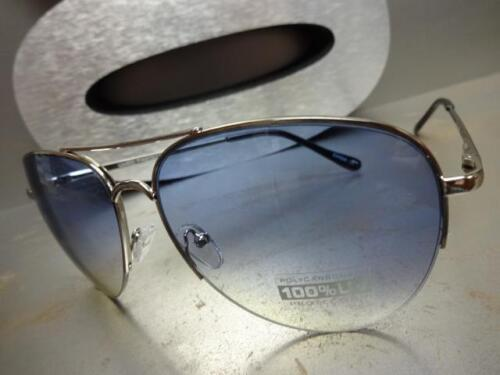 CLASSIC VINTAGE RETRO Style SUN GLASSES SHADES Silver Frame Blue /& Yellow Lens