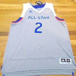 detailed look ebc59 9f86a Details about ADIDAS NBA EAST ALL-STAR KYRIE IRVING GRAY SWINGMAN JERSEY  SIZE 3XL