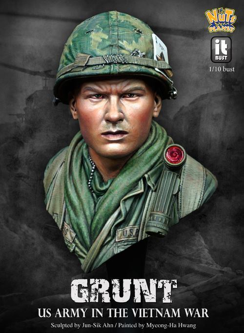 Nutsplanet 'Grunt' US Army in Vietnam War Unpainted 1 10th scale bust kit