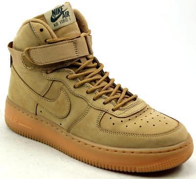 Niños Chicos Nike Air Force 1 Hi Cuero Tostado Nubuck Moda Entrenadores UK Size 5.5