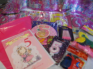 Image Is Loading GIRLS 5TH BIRTHDAY PARTY DECORATIONS