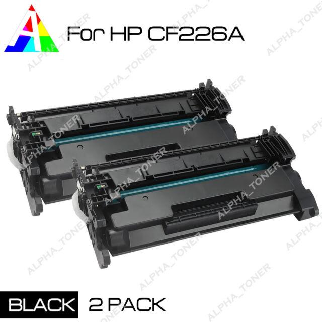 2Pk CF226A 26A Toner Cartridges for HP LaserJet Pro M402n MFP M426fdw Printer