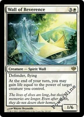 White Conflux Mtg Magic Rare 1x x1 1 PLAYED Wall of Reverence