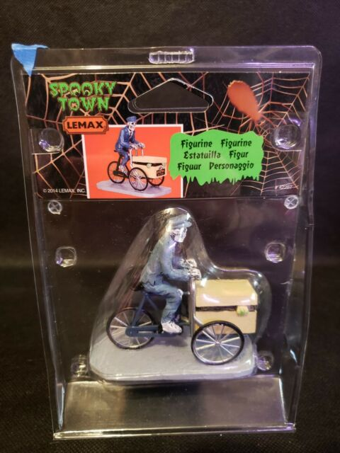 Lemax Spooky Town Halloween Village Nor Dead Of Night 42207 Mailman  Delivery