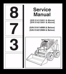best bobcat 873 service repair manual operation and maintenance rh ebay com Bobcat 873 Specs bobcat 873 g series service manual