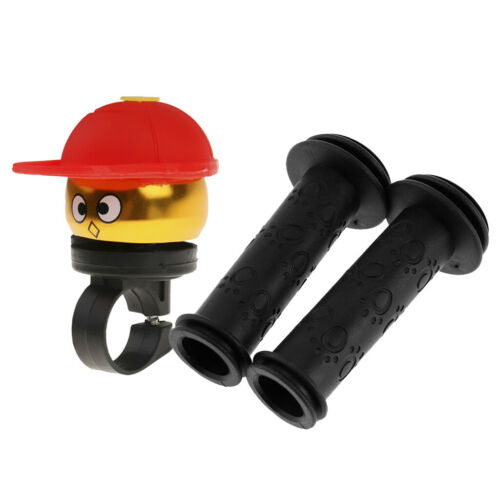 Kids Bicycle Bike Bell Alarm Cycling Safety Handlebar Grip Anti-Slip Cover