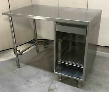 Stainless Steel 48 X 30 Table With Drawer Amp Undershelf Cabinet