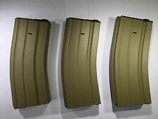 3 PCS BATTLEAXE M4/M16 300rds Metal Magazine set for Airsoft Marui AEG(Tan)
