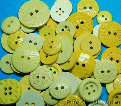 Color Me.. Easter Spring Summer Round Dress It Up Sewing Craft Buttons YELLOW