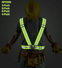 Safety Security High Visibility Reflective Vest Adjustable Night Running Outdoor