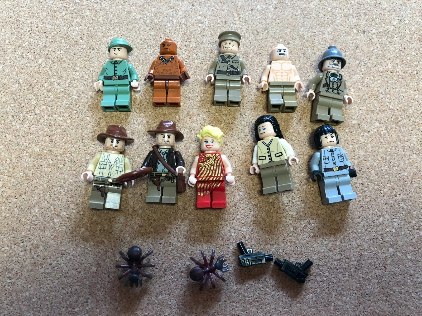 Legon Indiana Jones minifigure lot of 10 Indy Marian Willie N507B