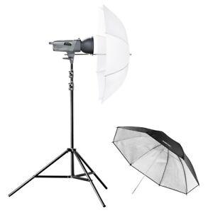 walimex-pro-VE-150-Excellence-Studioset-Basic-Stativ-Blitzkopf-Schirme