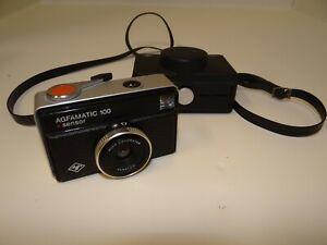 Vintage Kamera Agfa Agfamatic 100 Sensor + Tasche Sucherkamera geprüft (2998)