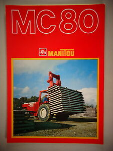 "Brochure + Typenblatt Manitou Mc 80 Forklift"" the Great Manitou """