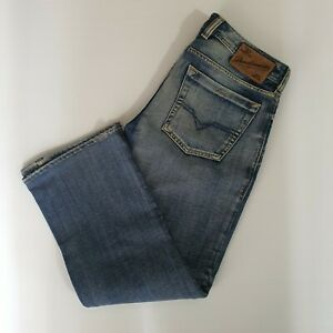 Diesel-Zatiny-Regular-Boot-Cut-Jeans-Men-039-s-Sz-29-X-32-Button-Fly-Light-ALTERED