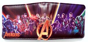 Avengers-End-Game-Wallet-Geldboerse-ID-Fenster-Reissverschlusstasche-Kartenschlitz-3-Stile-Hulk