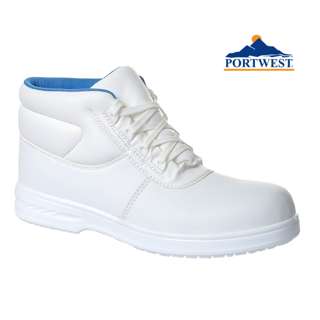 Portwest Ankle High Top Laced Hiking Walking shoes Boots Trainers Toe Cap FW88