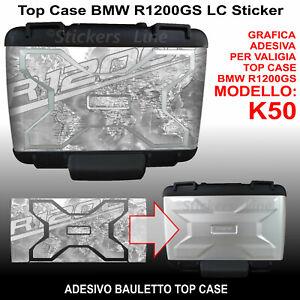 adesivo bauletto top case vario BMW R1200GS Planisfero Bussola K50 dal 2013 GRG