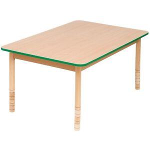 Image Is Loading CHILDRENS KIDS WOODEN TABLE HEIGHT  ADJUSTABLE PRESCHOOL NURSERY