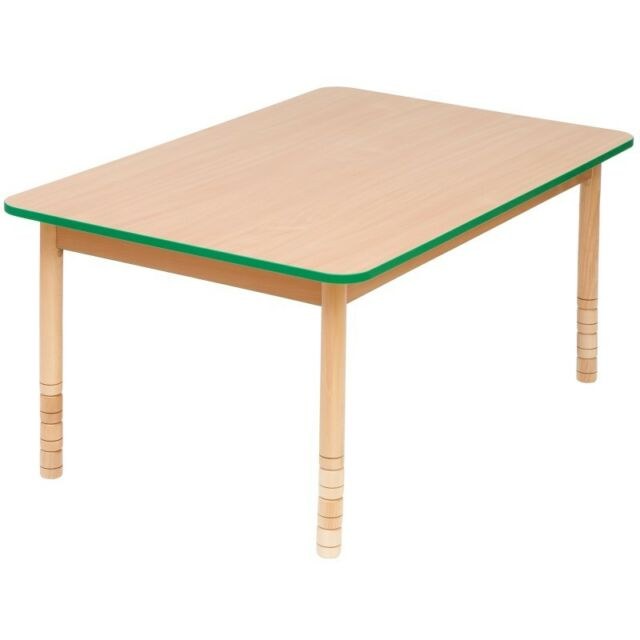 CHILDRENS KIDS WOODEN TABLE HEIGHT ADJUSTABLE PRESCHOOL NURSERY TABLE