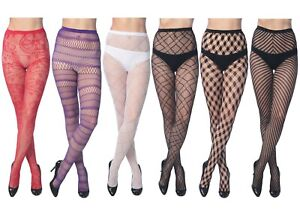 dfead02d6 Image is loading Women-Color-Fishnet-Stocking-Tights-Pantyhose-Regular-Plus-