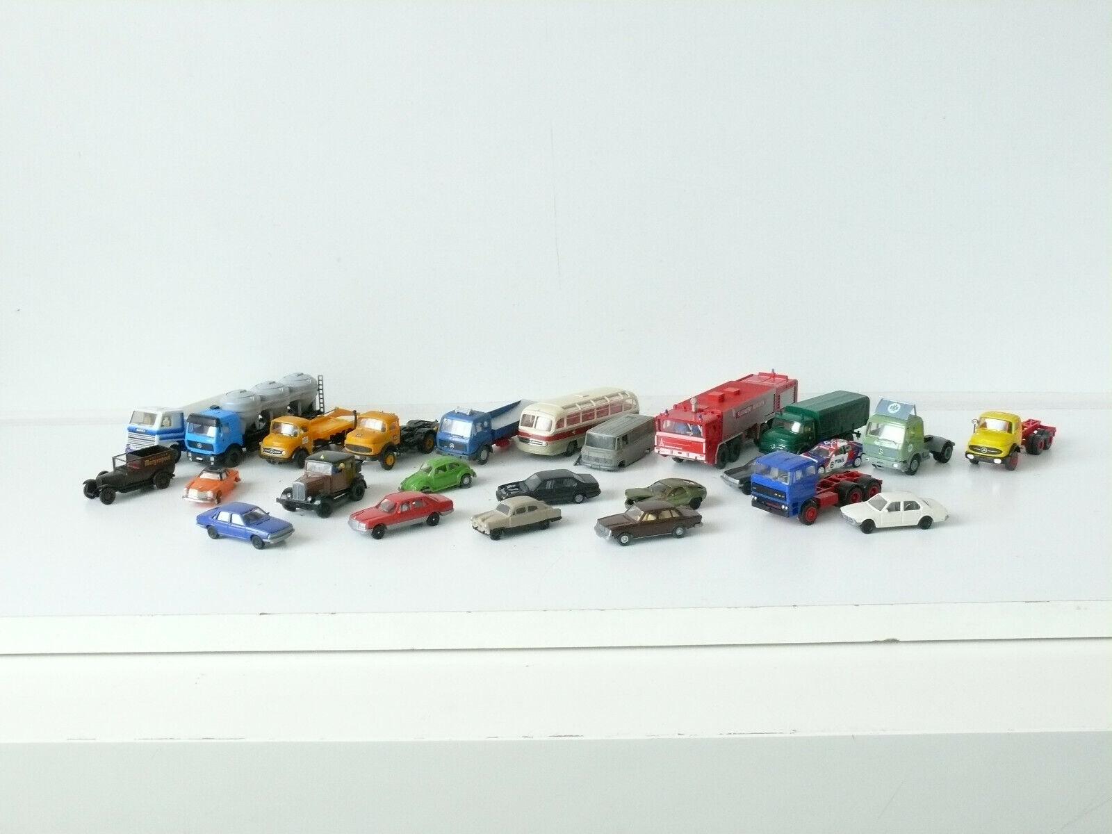 Camion Auto la raccolta h0, diversi produttori 25 veicoli-USATO (259)